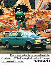 PUBLICITE ADVERTISING 094  1979  VOLVO Berline diesel  6 cylindres