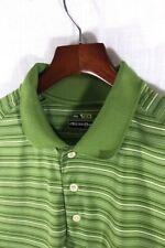 BOLLE GOLF BTECH Polo Short-Sleeve Golf Shirt M Green Black White Stripes