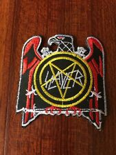 Slayer Patch Iron On Sew On Embroidered New 6.5 Cm X 7.5 Cm