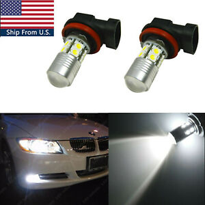 Xenon White 6000K 100W LED Front Fog Light Bulbs For BMW 1 2 3 4 5 6 7 X Series