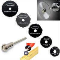 7pcs/Set Mini Circular Saw Blade Woodworking Cutting Discs Drill For Rotary Tool