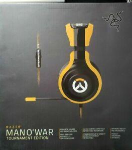RAZER Man O' War Tournament Edition OVERWATCH Gaming Headphones, NEW