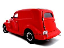 1935 FORD SEDAN DELIVERY RED 1:24 DIECAST MODEL CAR BY UNIQUE REPLICAS 18526