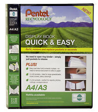 Pentel Recycology A4/A3 Display Book Refillable Pockets Presentation Folder