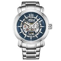Stuhrling Men's Automatic Self Wind Skeleton Watch Stainless Steel Bracelet,