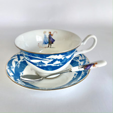 English Ladies / Disney's Frozen 2 Princess Cup, Saucer & Spoon Set: Anna & Elsa