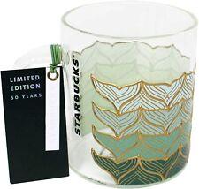 Starbucks 50th Anniversary Mermaid Glass Cup Mug 12oz NWT