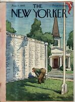1945 New Yorker August 11 Reading the Roll of Honor - Dunn