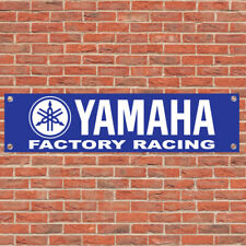 Yamaha Logo Racing Motorcycle Motorbike Sign Garage Workshop Banner Display B