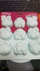 Trudeau Structure Silicone Mold CUPCAKE PAN BUNNY RABBITS- NEW