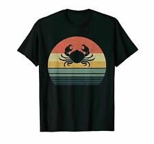Retro Vintage Crab Gift For Family Love Animals T-Shirt Cotton 2021
