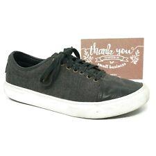 OTW Vans Mens Larkin Skate Sneaker Shoes Size 10 Black Leather Herringbone
