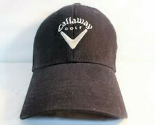 Callaway Unisex S/M Black White Embroidered Logo Spann Golf Baseball Cap Hat