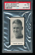 1923 V128 Paulin's SPUNK SPARROW Stamp Redemption #49 PSA 4
