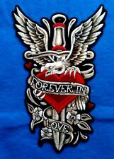 Dagger Heart Eagle 7W by 10.5H  Patch FREE SHIPPING