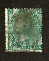Great Britain stamp #48, used, Plate 4,  wmk. 24, Queen Victoria, 1865, SCV $225
