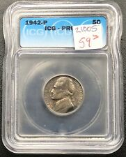 1942 P Jefferson Nickel PROOF 5c ICG PR 64 #21005