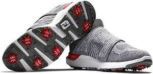 FootJoy Golf 2021 HyperFlex BOA Golf Shoes Color: Charcoal/Grey/White SIZE: 10W