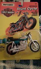 New Matchbox Green Harley Davidson Stunt cycle FXR Lo rider