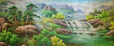Massive Superb Chinese Watercolor Landscape Scroll Painting Signed Guan Shanyue