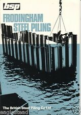 Equipment Brochure - British Steel Piling - Frodingham Piles - c1970's (E1712)