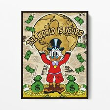 More details for scarface x scrooge mcduck (poster print) alec monopoly inspired - pop wall art