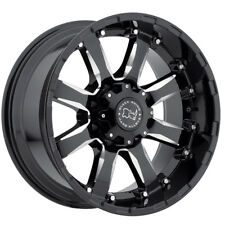"17"" BLACK RHINO SIERRA BLACK MILLED WHEELS RIMS 17x9.0 8x165 -12et"