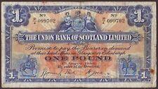 SCOTLAND  The Union  Bank  1 Pound  1.8.1940