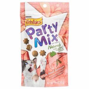 LM Friskies Party Mix Naturals Cat Treats - Real Salmon 2.1 oz