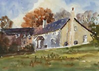 John A. Case - Set of Four Contemporary Watercolours, Studies of Cottages