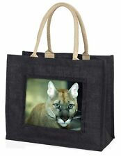 Stunning Big Cat Cougar Large Black Shopping Bag Christmas Present Ide, AT-17BLB