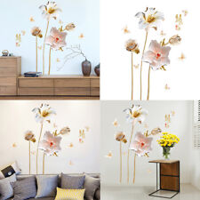 3D Orchid Flower Wall Stickers Decal Removable DIY Doors  Living Room Home Decor