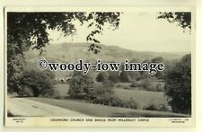 tp0359 - Derbys - Cromford Church and Bridge from Willersley Castle - Postcard