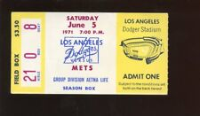 June 5 1971 Ticket Stub New York Mets at Los Angeles Dodgers