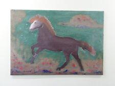 Deko Wandbild Bild in XXL - Pferd auf Fliese Geschenkidee-Handgespachtelt Unikat