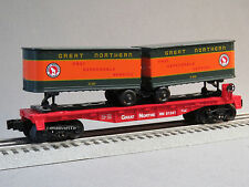 LIONEL GREAT NORTHERN FLATCAR W PIGGYBACK TRAILERS o gauge train gn 6-81262-F