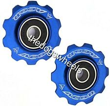 Acor CNC Alloy 11T Jockey Pulley Wheels 9 - 10 speed MTB Road Bike Bicycle Blue