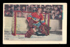 1952 53 PARKHURST HOCKEY #12 GERRY MCNEIL VG-EX MONTREAL CANADIENS FREE SHIP USA