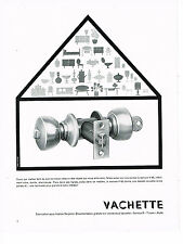 PUBLICITE ADVERTISING 044   1960    VACHETTE   serrures