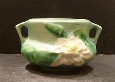"Roseville Water Lily Blue Jardiniere- 663-3"" - MINT (B)"