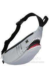 SHARK waist bag Morn Creations GREY fanny pack hip air travel carry on tale jaws