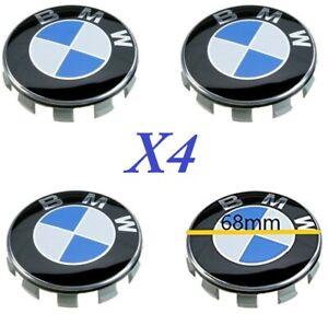 KIT4 TAPPI COPRIMOZZO BMW COMPATIBILI 68mm CERCHI LEGA SERIE 1 2 3 4 5 6 7 M X Z