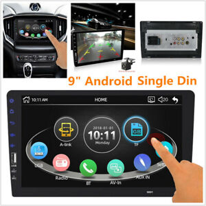 """9"""" Android Single Din Navigation Bluetooth WIFI Car Video Radio MP5 Player Unit"""
