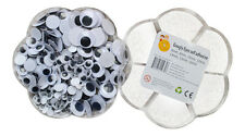 200 Googly Wiggle Wiggly Eyes Self Adhesive Assorted 6mm 8mm 10mm 12mm 15mm 16mm