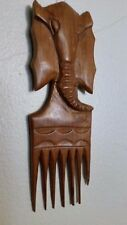 WOODEN  ELEPHANT HEAD WITH  BIG COMB