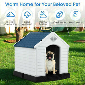 New Dog House Pet Puppy Shelter Waterproof Indoor/Outdoor Ventilate Blue