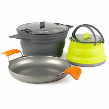 Sea to Summit X SET 32 X-Kettle, X-Pan & X-Pot Lightweight Backpacking NEW