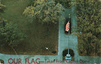 Postcard Our Flag Taken From Capitol Dome