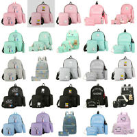 Fashion Women Canvas School Bags Backpack Travel Rucksack Handbag Shoulder Purse