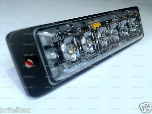 High Intensity 6 x 3W LED Warning Light Slimline SUPER Strobe 12/24V RED